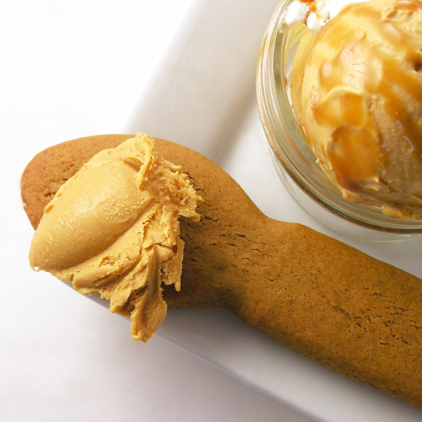 Caramel Gelato and ginger bread cookies