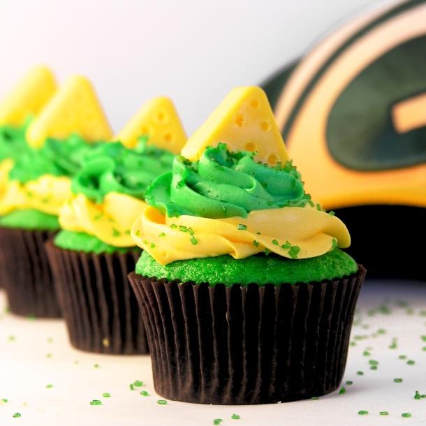 Green Bay Packer Cupcakes!