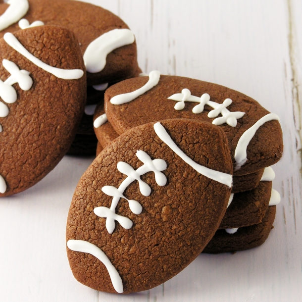 Chocolate Football Cookies!