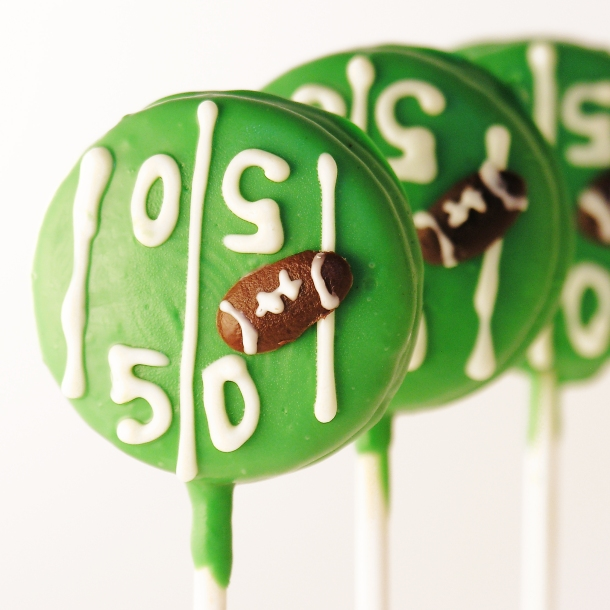 Football Field Oreo Pops