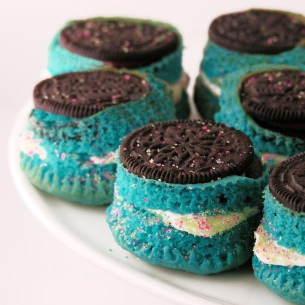 Upside Down Oreo Cupcakes