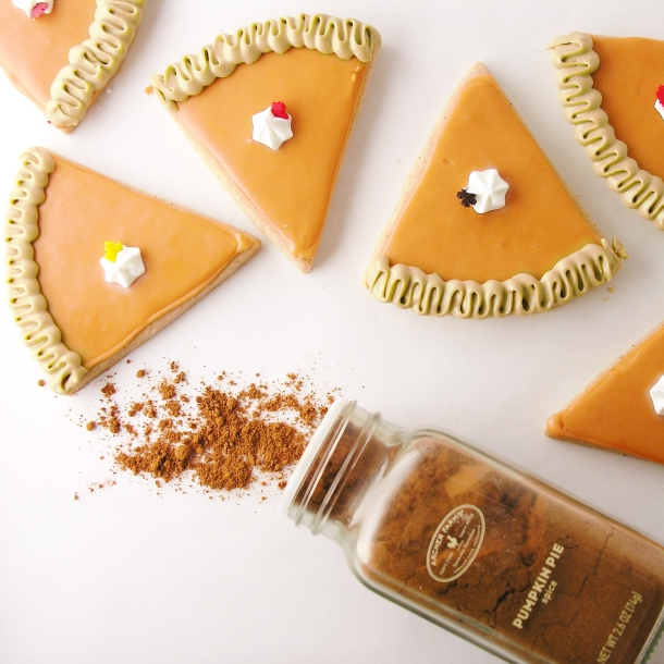 Pumpkin Pie Cutout cookies!