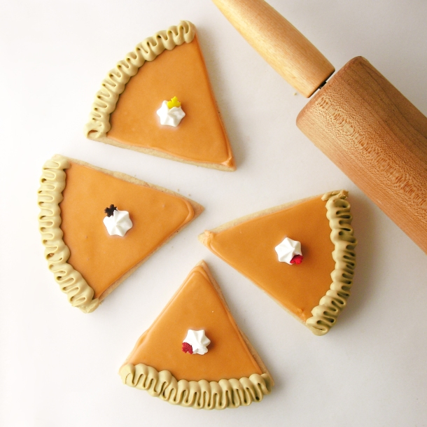 Slice of Pumpkin Pie Cutouts
