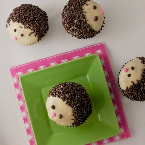 Hedgehog Cupcakes