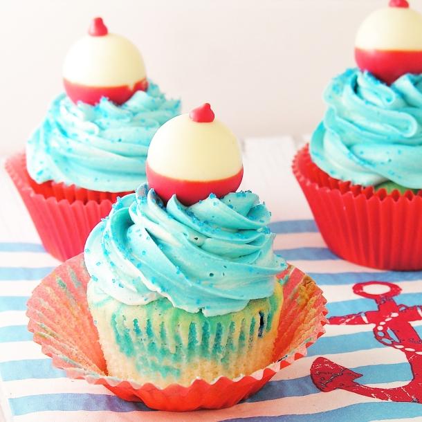 Bobber Cupcakes