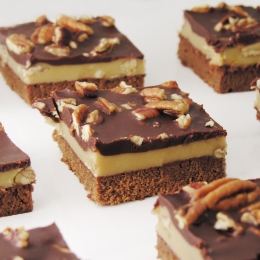 Praline Fudge Brownies