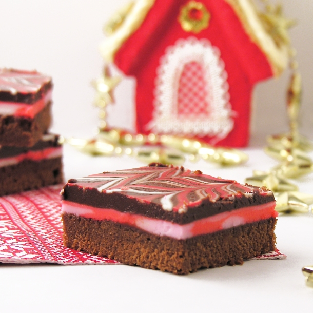 Candy Cane Brownie
