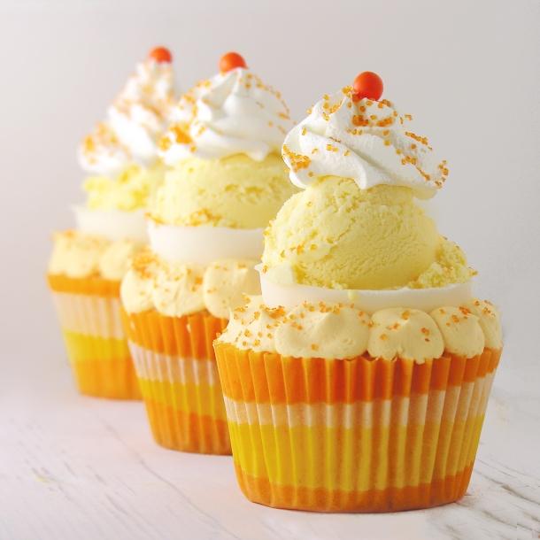 Orange Creamsicle Cupcake