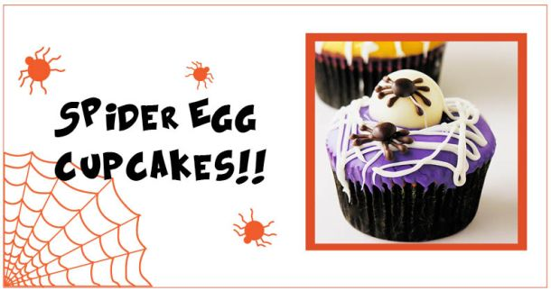 spider egg cupcakes