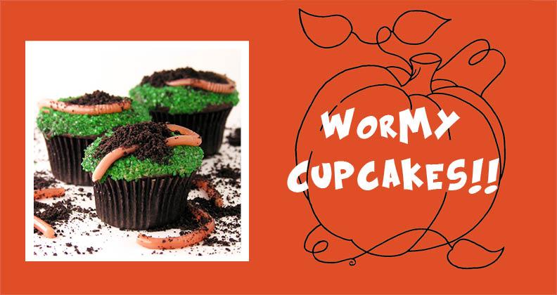 wormy cupcakes