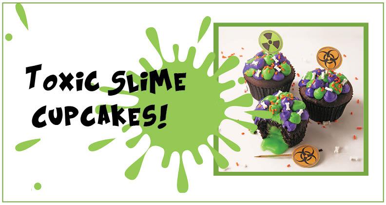 toxic slime cupcakes