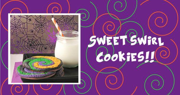halloween swirled cookies