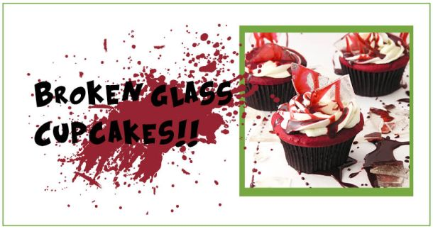broken glass cupcakes
