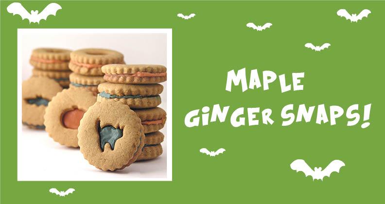 halloween ginger cookies