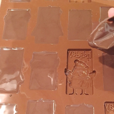 Chocolate molds for Christmas