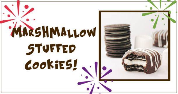 Marshmallow Stuffed Oreos