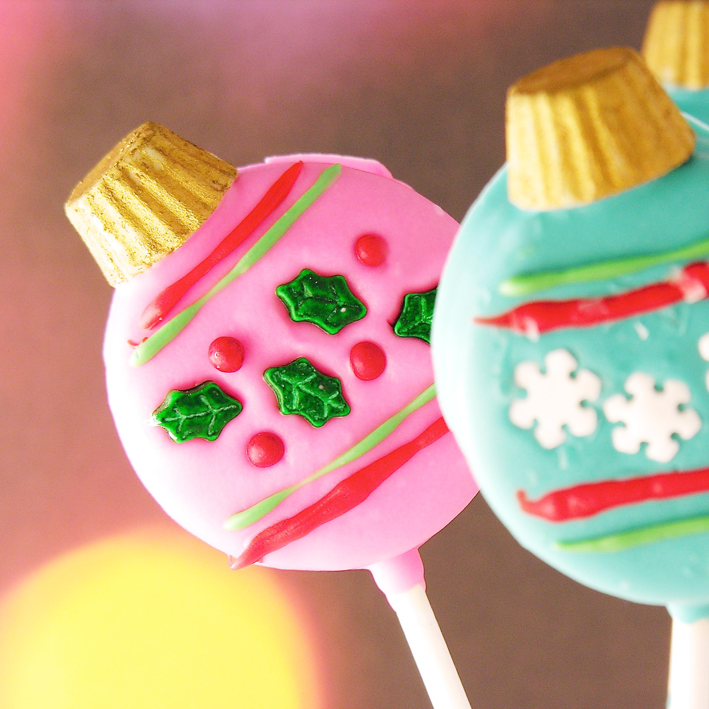 Oreo Ornament Pops Easybaked